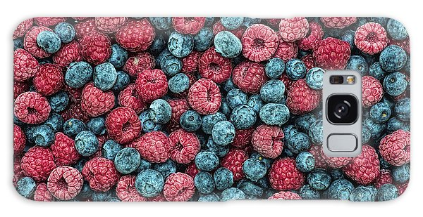 Frozen Berries Galaxy Case by Tim Gainey