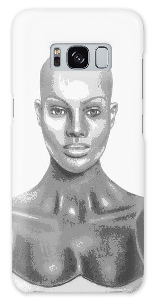 Bald Superficial Woman Mannequin Art Drawing  Galaxy Case