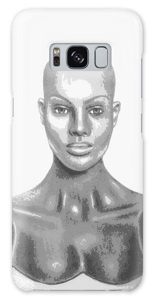 Bald Superficial Woman Mannequin Art Drawing  Galaxy Case