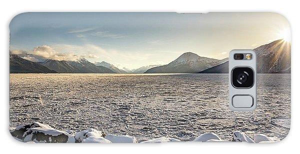 Frozen Fjord Sunrise Galaxy Case