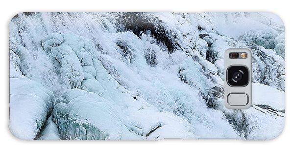 Frozen Gullfoss In Winter Galaxy Case