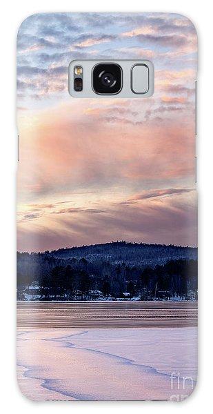 Frozen Lake Sunset In Wilton Maine  -78096-78097 Galaxy Case
