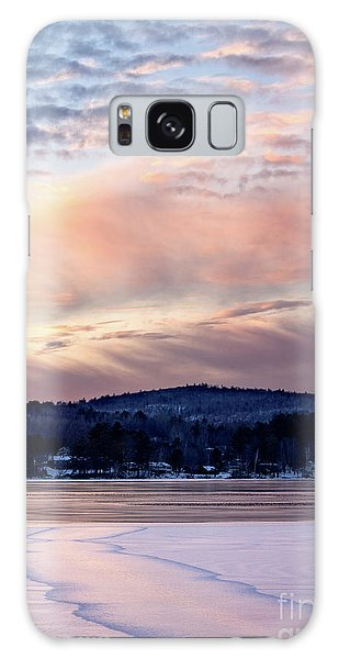 Frozen Lake Sunset In Wilton Maine  -78096-78097 Galaxy Case