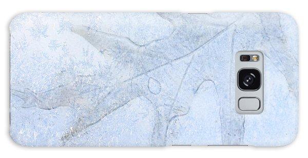Frozen Oak Leaf Imprint Galaxy Case