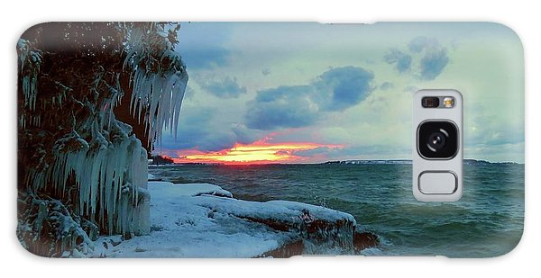 Frozen Sunset In Cape Vincent Galaxy Case