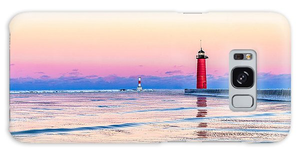 Galaxy Case featuring the photograph Frozen Sunset by Steven Santamour