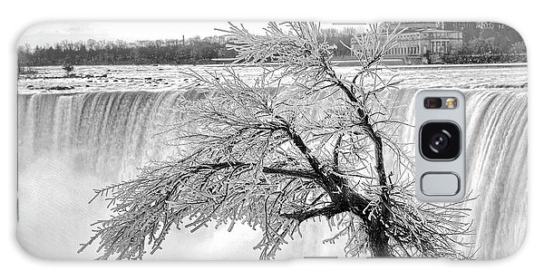 Frozen Tree Near Niagara Falls Galaxy Case