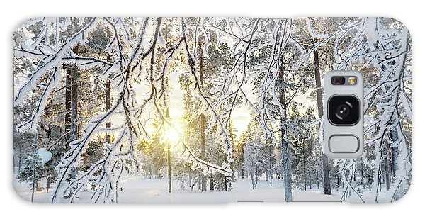 Frozen Trees Galaxy Case by Delphimages Photo Creations