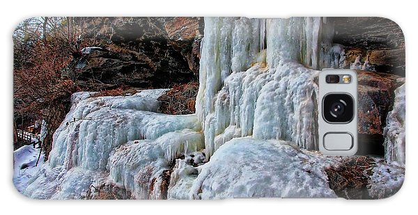 Frozen Waterfall Galaxy Case by Suzanne Stout
