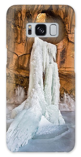 Frozen Waterfall Galaxy Case
