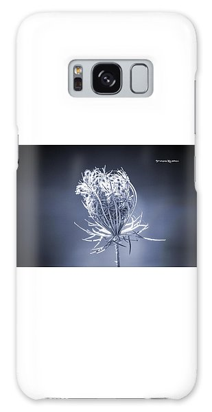 Galaxy Case featuring the photograph Frozen Wildflower by Stwayne Keubrick