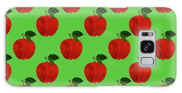 Fruit 02_apple_pattern Galaxy Case by Bobbi Freelance