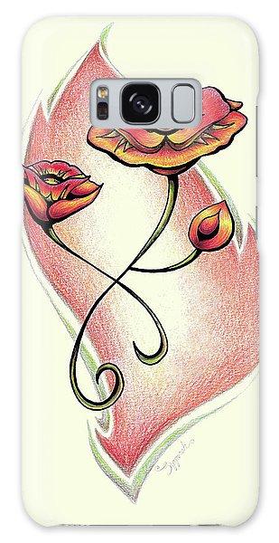 Vibrant Flower 1 Poppy Galaxy Case