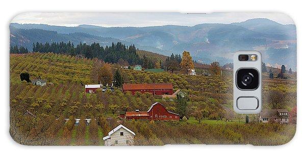 Fruit Orchard Farmland In Hood River Oregon Galaxy Case