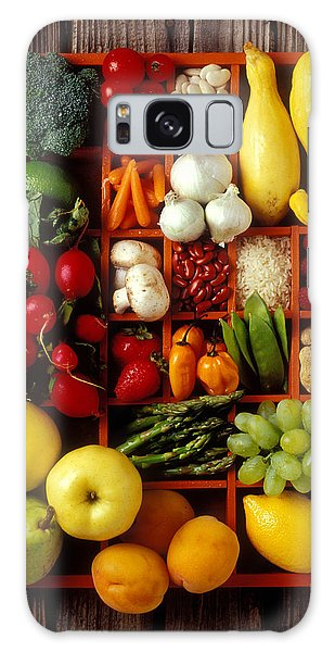Fruits And Vegetables In Compartments Galaxy Case