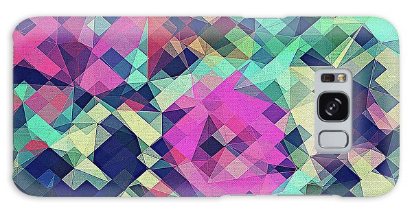 Sixties Galaxy Case - Fruity Rose   Fancy Colorful Abstraction Pattern Design  Green Pink Blue  by Philipp Rietz