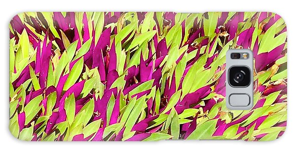 Fuchsia And Green -- Aloha Ground Cover Galaxy Case
