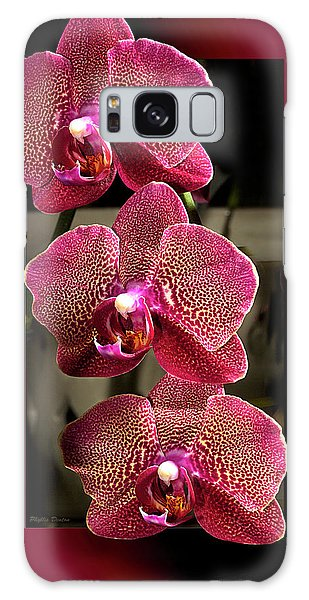 Fuchsia Orchids Oof Galaxy Case