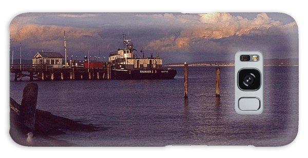 Fuel Dock, Port Townsend Galaxy Case by Laurie Stewart