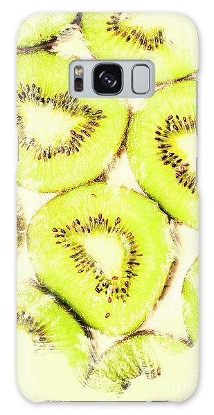 Full Frame Shot Of Fresh Kiwi Slices With Seeds Galaxy Case