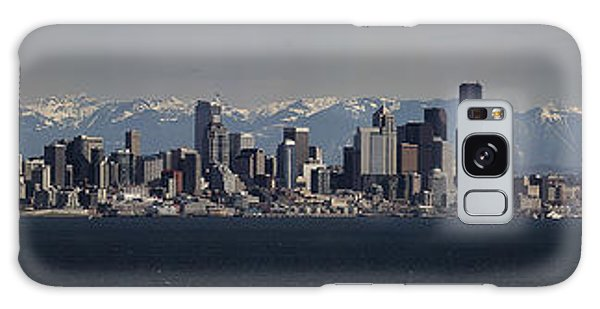 Full Frontal Seattle Galaxy Case by James Heckt