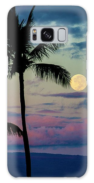Full Moon And Palm Trees Galaxy Case