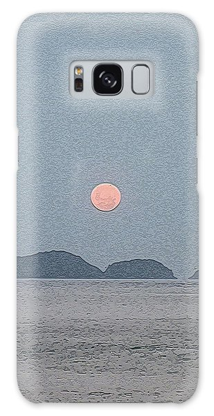 Full Moon At The Beach Galaxy Case