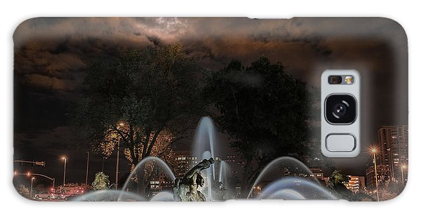 Full Moon At The Fountain Galaxy Case