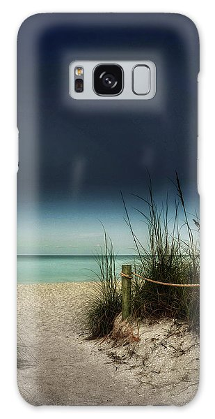 Full Moon Beach Galaxy Case