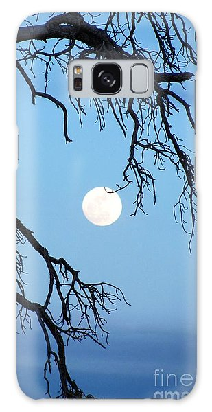 Full Moon Blue Sky Galaxy Case