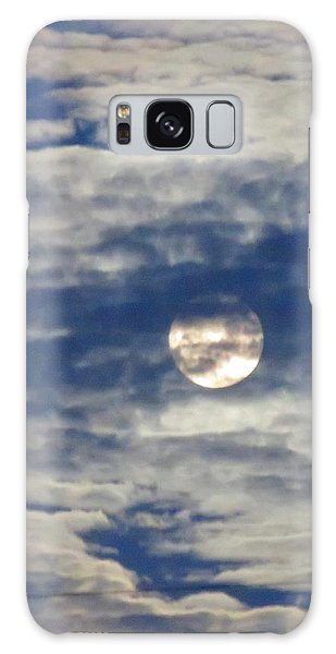 Full Moon In Gemini With Clouds Galaxy Case