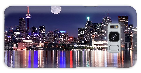 Full Moon In Toronto Galaxy Case