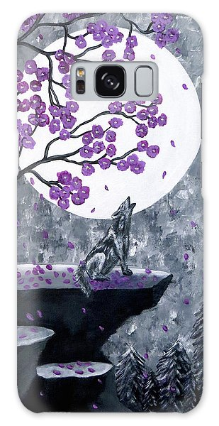 Galaxy Case featuring the painting Full Moon Magic by Teresa Wing