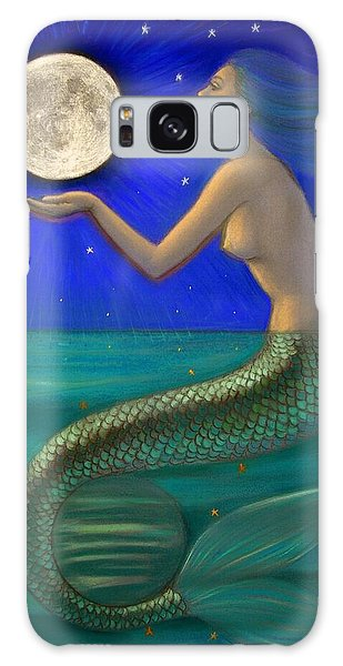Full Moon Mermaid Galaxy Case by Sue Halstenberg