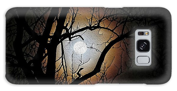 Full Moon Oil Painting Galaxy Case