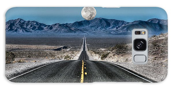 Full Moon Over Death Valley Galaxy Case by Donna Kennedy