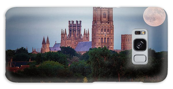 Full Moon Over Ely Cathedral Galaxy Case