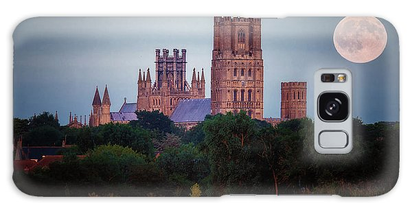 Galaxy Case featuring the photograph Full Moon Over Ely Cathedral by James Billings