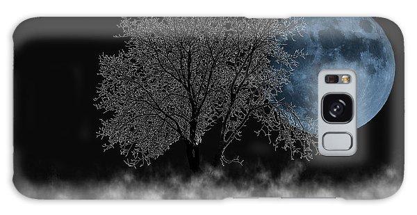 Full Moon Over Iced Tree Galaxy Case