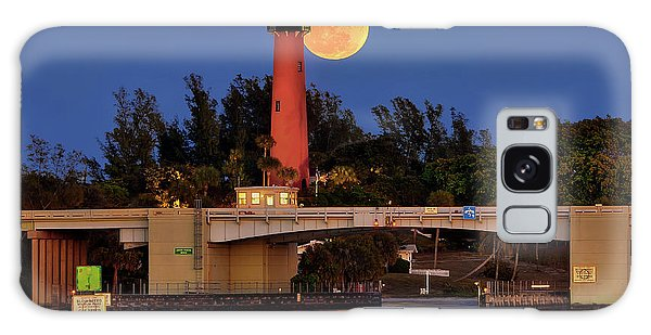 Full Moon Over Jupiter Lighthouse, Florida Galaxy Case by Justin Kelefas