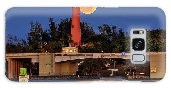 Full Moon Over Jupiter Lighthouse, Florida Galaxy Case by Justin Kelefas