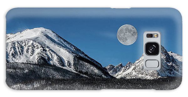 Full Moon Over Silverthorne Mountain Galaxy Case