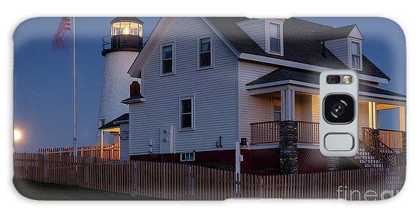 Full Moon Rise At Pemaquid Light, Bristol, Maine -150858 Galaxy Case