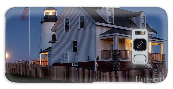 Full Moon Rise At Pemaquid Light, Bristol, Maine -150858 Galaxy Case