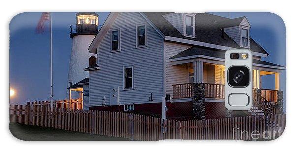 Full Moon Rise At Pemaquid Light, Bristol, Maine -150858 Galaxy Case by John Bald