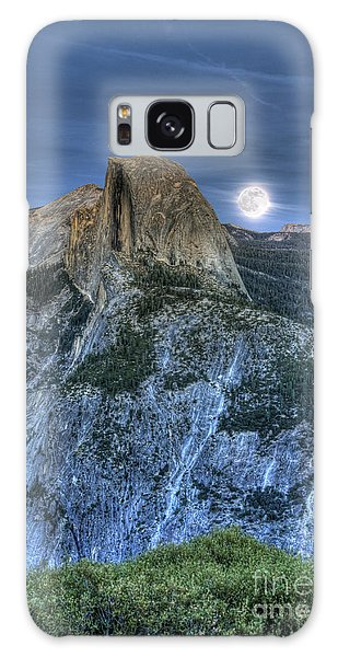 Full Moon Rising Behind Half Dome Galaxy Case