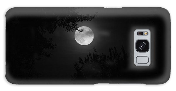 Full Moon With Branches Galaxy Case