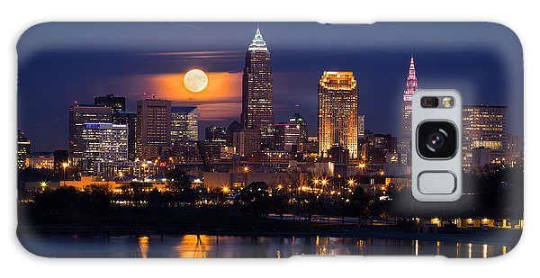 Full Moonrise Over Cleveland Galaxy Case