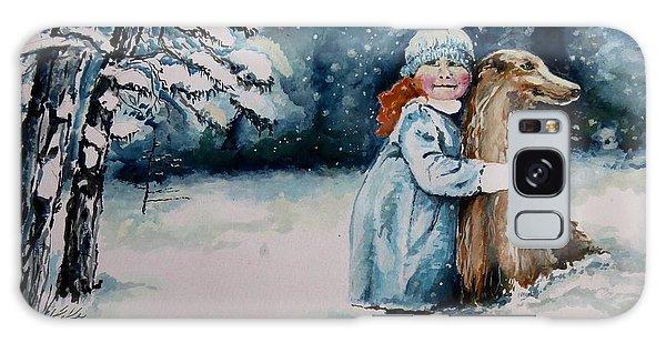 Fun In The Snow Galaxy Case by Geni Gorani