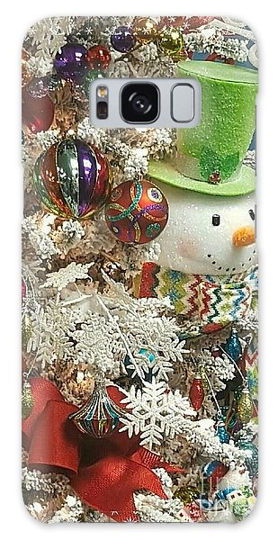 Fun Snowman Holiday Greeting Galaxy Case